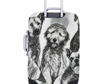 Luggage Cover Dogs Theme