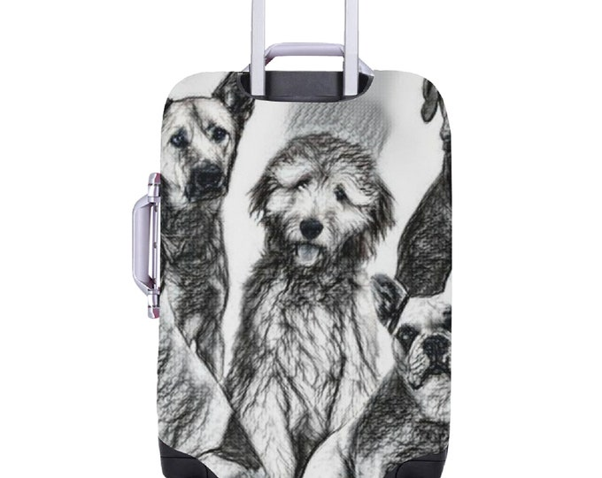 Featured listing image: Luggage Cover Dogs Theme