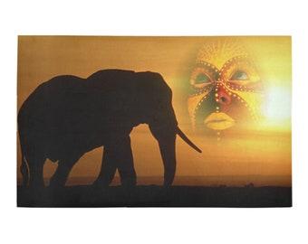 Bath Mats African Elephant