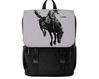 Casual Shoulder Backpack Bucking Bronco