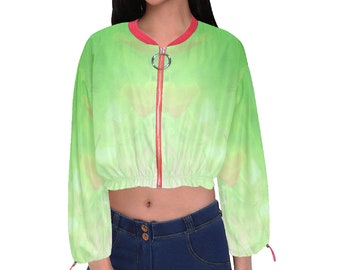 Women's Cropped Chiffon Jacket Flimey