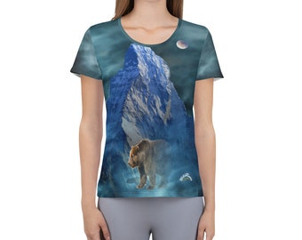 Women's Athletic T-shirt WildRness Grizzly