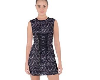 Women's Bodycon Lace Up Dress
