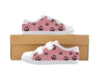 Kid's Canvas Velcro Shoes PAWS
