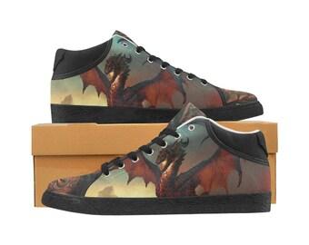 Men's Chukka Canvas Sneakers Dragon