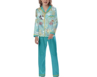 Kid's Long Sleeve Satin Pajamas fairytale cute