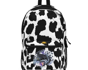 Backpack White Leopard