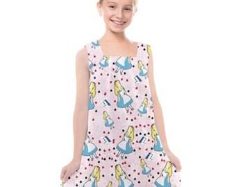 Girls Cross Back Dress Princess