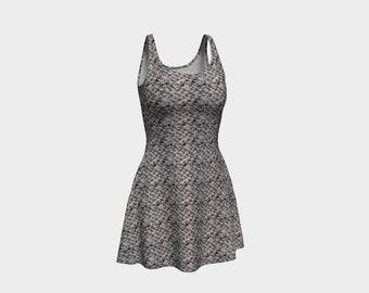 Dusk Grey Flare Dress