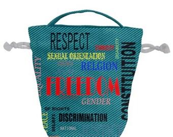 Drawstring Bucket Bag Freedom