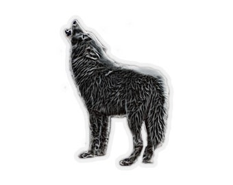 Kiss-Cut Stickers Smokey Wolf