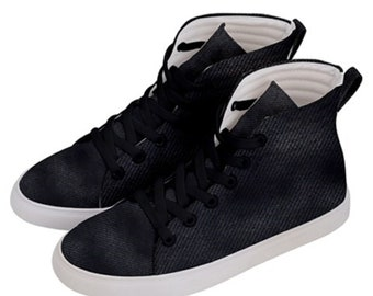 Men's  Black Ho Top Skateboard Shoes