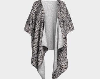 Dusk Grey Draped Kimono