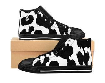 WomenS HighTop Sneakers Leopard Bw