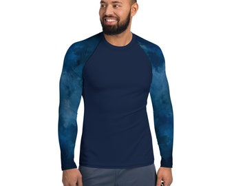 Men's Rash Guard Blue Wash