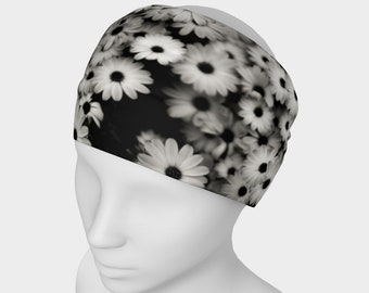 Dark Daisy Black Headband