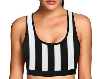 Women's Striped Sports Bra