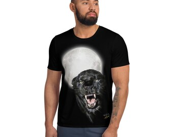 Men's Athletic T-shirt WildRness Black Jaguar