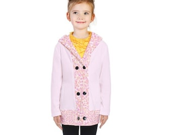Girl's Double Breasted Coat pink