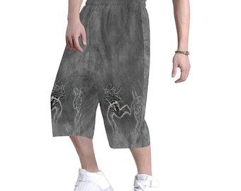 Men's Hip Hop Baggy Shorts