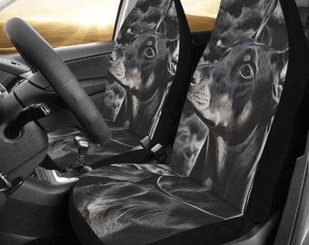 Bucket Car Seat Covers Doberman Print