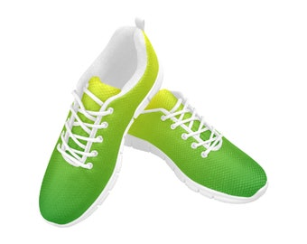 Women's Breathable Running Shoes Lime Blend