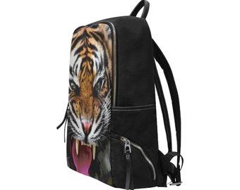 Slim Backpack Tiger Print