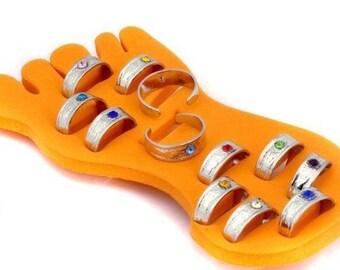 Gemstone Toe Ring