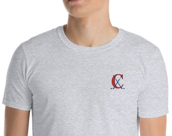 Short-Sleeve Unisex T-Shirt Hockey Embroidery