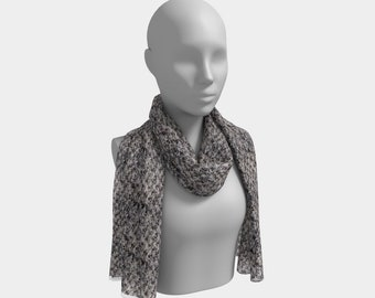 Dusk Grey Long Scarf