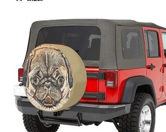 Spare Tire Cover Pug Print