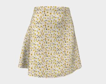 Daisies Print Flare Skirt