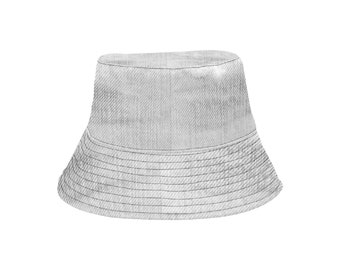 Bucket Hat Grey Wash Denim