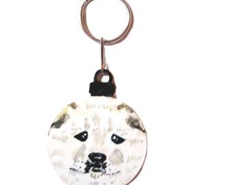 Chow Dog Face Key Chain