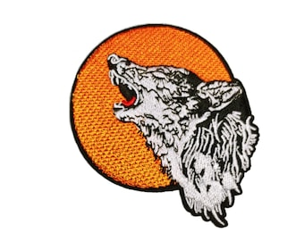 Wolf Patch Embroidered Iron On