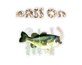 Kiss-Cut Stickers Bass On