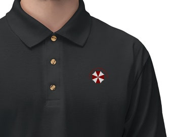 Men's Jersey Polo Shirt Umbrella Corporation