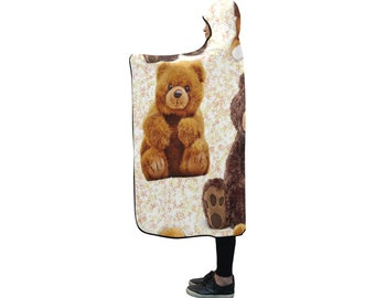 Hooded Blanket Teddy Bears
