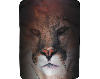 Sherpa Fleece Blanket Cougar