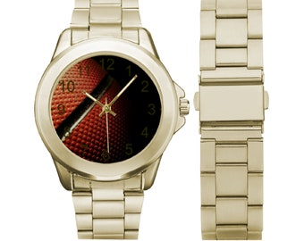 Men's Stainless Steel Gilt Watch