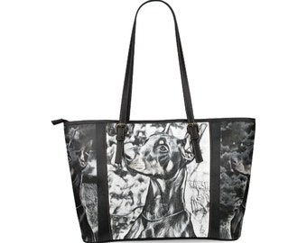 Leather Tote Bags Two Sizes Doberman Pinscher