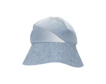 Women's Bucket Hat Denim Blue Wash