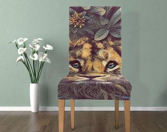 Chair Slip Cover Lion