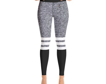 Yoga Leggings Heather Grey Black