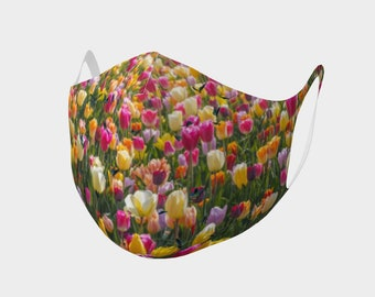 Tulips and Butterflies Face Mask