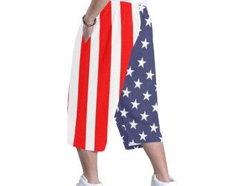 Men's Baggy Hip Hop Shorts American Flag