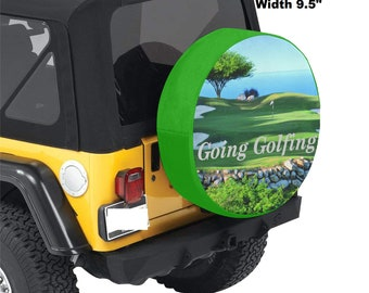 Spare Tire Cover Golfing Print