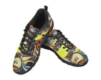 Men's Breathable Mesh Running Shoes Emoji Frenzy