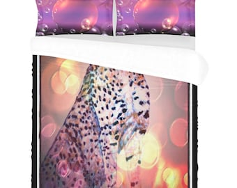 Bedding Set 3 pc Cheetah Bubbles