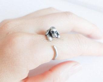 Cocker Spaniel Adjustable Silver Ring